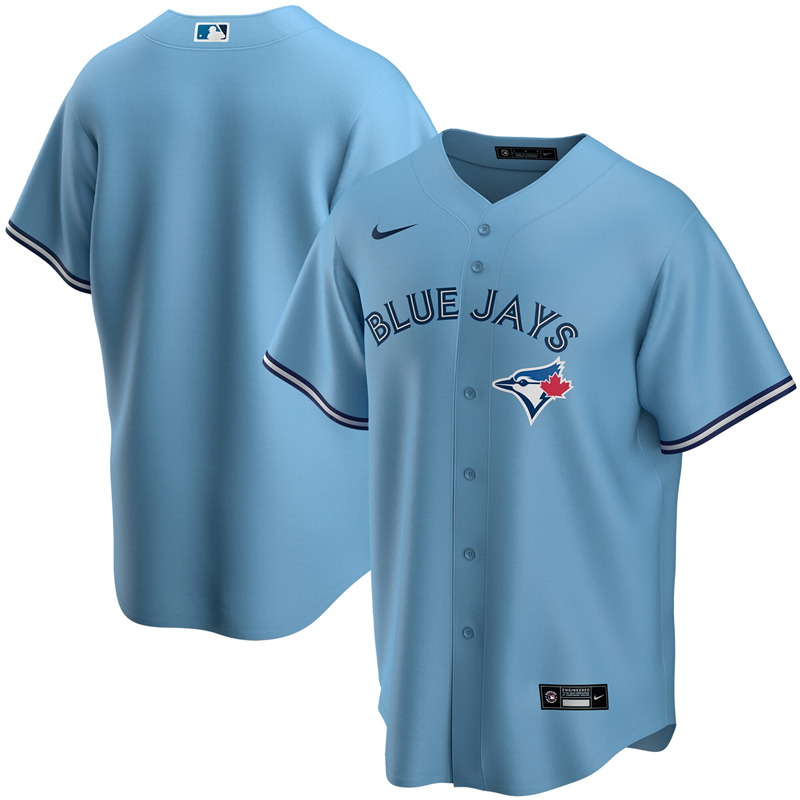 MLB Youth Toronto Blue Jays Nike Light Blue Alternate 2020 Replica Team Jersey