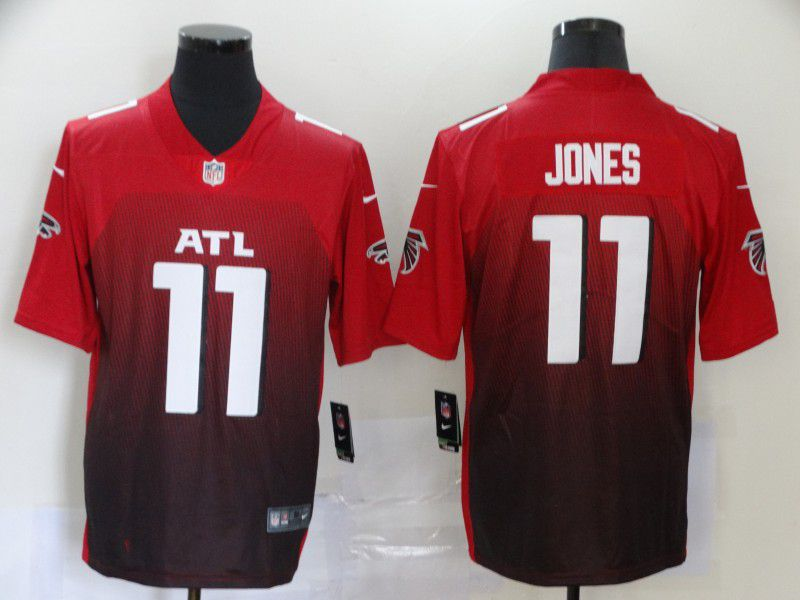 Men Atlanta Falcons 11 Jones Red Nike Vapor Untouchable Stitched Limited NFL Jerseys