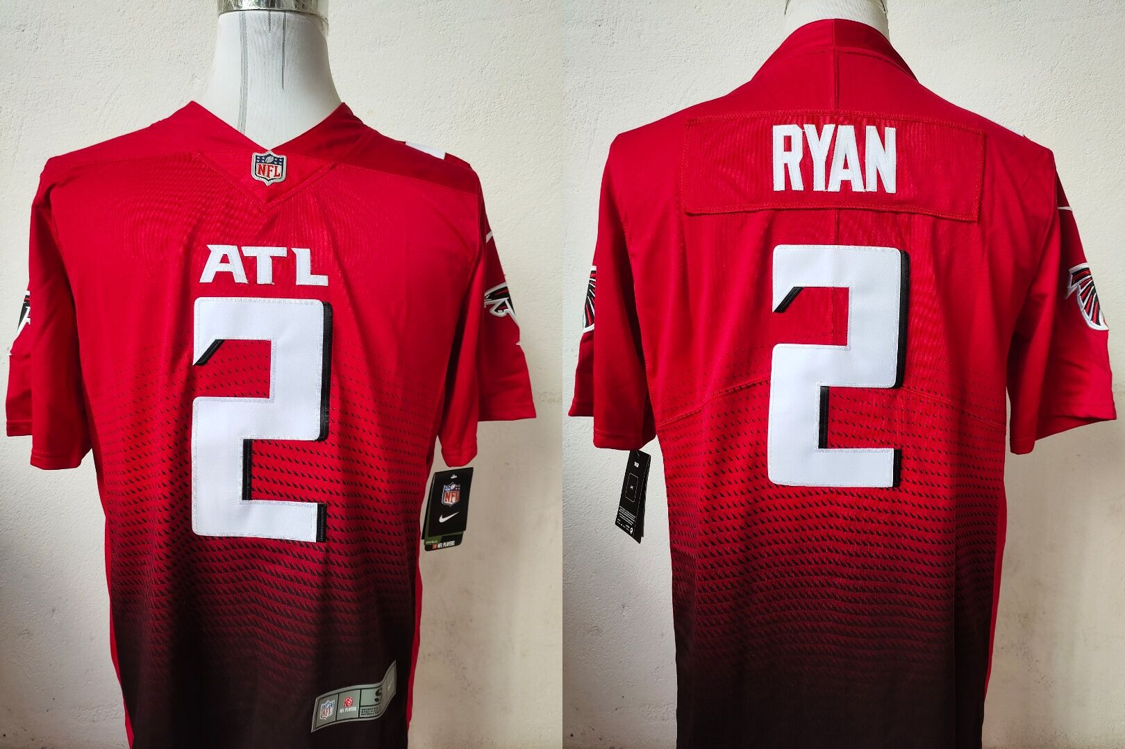 Men Atlanta Falcons 2 Ryan Red Nike Vapor Untouchable Stitched Limited NFL Jerseys