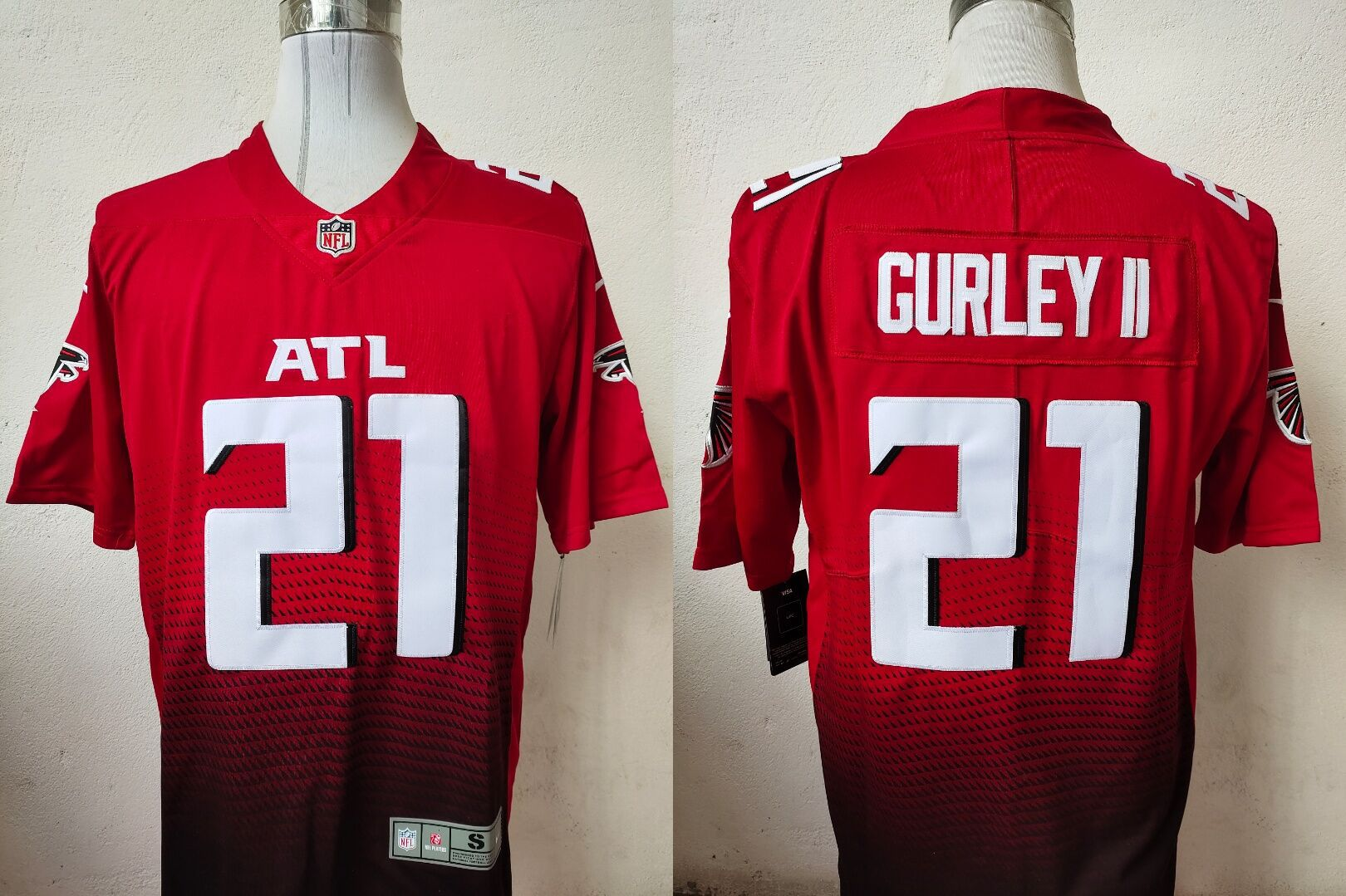 Men Atlanta Falcons 21 Gurley ii Red Nike Vapor Untouchable Stitched Limited NFL Jerseys
