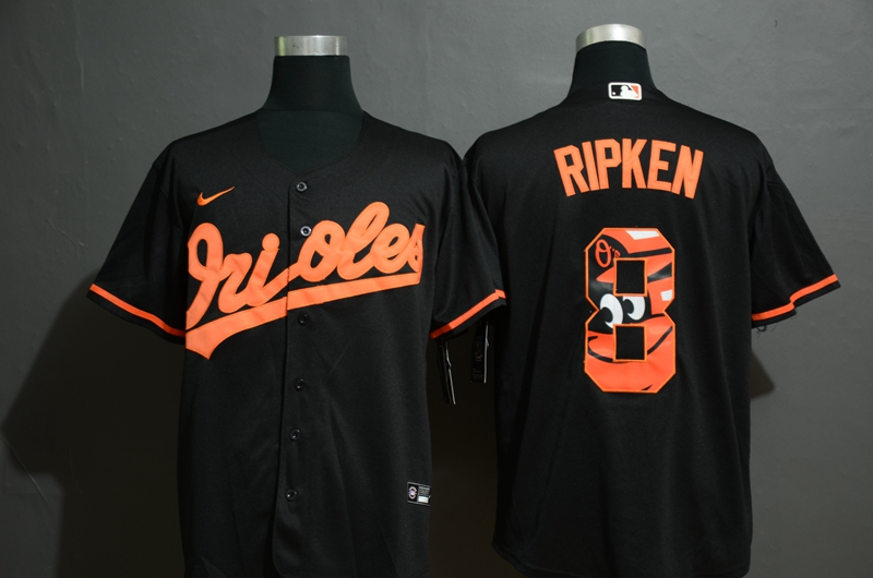 Men Baltimore Orioles 8 Ripken black Nike MLB Jersey