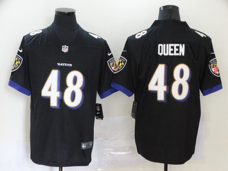 Men Baltimore Ravens 48 Queen Black Nike Vapor Untouchable Stitched Limited NFL Jerseys
