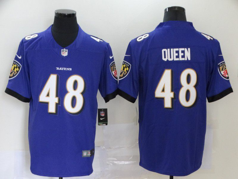 Men Baltimore Ravens 48 Queen Purple Nike Vapor Untouchable Stitched Limited NFL Jerseys