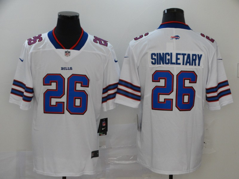 Men Buffalo Bills 26 Singletary white Nike Vapor Untouchable Limited Player NFL Jerseys