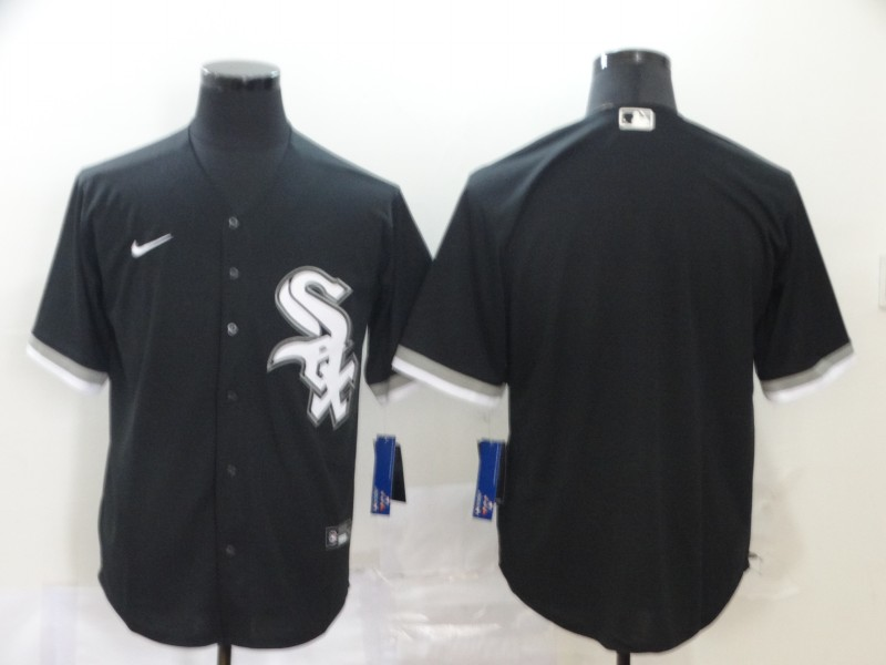 Men Chicago White Sox black blank MLB Jerseys