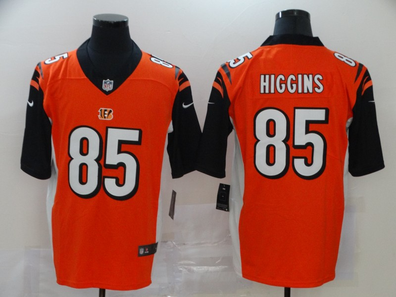 Men Cincinnati Bengals 85 Higgins Orange Nike Vapor Untouchable Stitched Limited NFL Jerseys