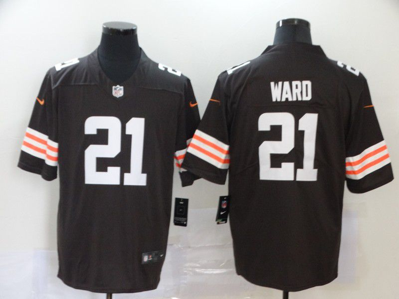 Men Cleveland Browns 21 Ward brown Nike Vapor Untouchable Stitched Limited NFL Jerseys
