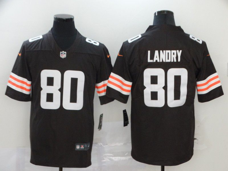 Men Cleveland Browns 80 Landry brown Nike Vapor Untouchable Stitched Limited NFL Jerseys