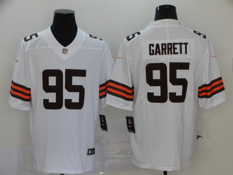 Men Cleveland Browns 95 Garrett White Nike Vapor Untouchable Stitched Limited NFL Jerseys