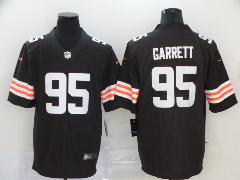Men Cleveland Browns 95 Garrett brown Nike Vapor Untouchable Stitched Limited NFL Jerseys