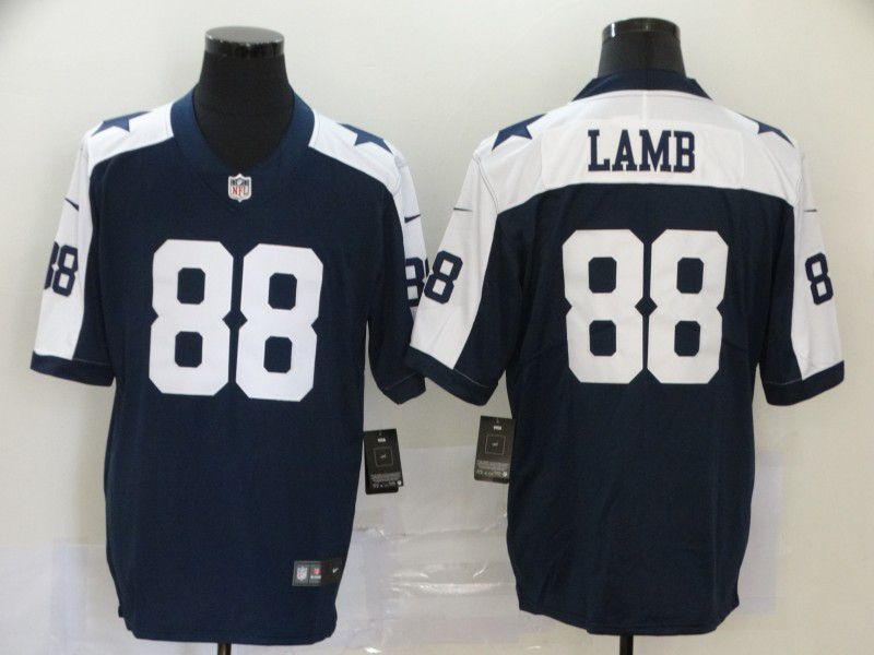 Men Dallas Cowboys 88 Lamb Blue Nike Vapor Untouchable Limited NFL Jerseys