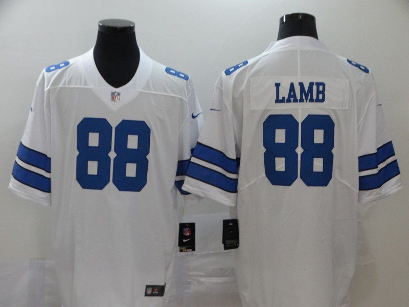 Men Dallas Cowboys 88 Lamb White Nike Vapor Untouchable Stitched Limited NFL Jerseys