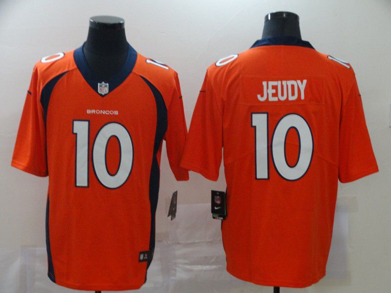 Men Denver Broncos 10 Jeudy Orange Nike Vapor Untouchable Stitched Limited NFL Jerseys