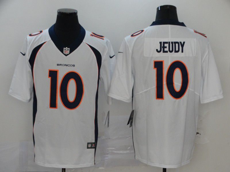 Men Denver Broncos 10 Jeudy White Nike Vapor Untouchable Stitched Limited NFL Jerseys