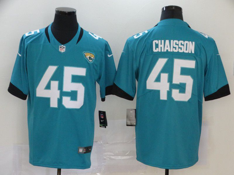 Men Jacksonville Jaguars 45 Chaisson Green Nike Vapor Untouchable Limited Player NFL Jerseys