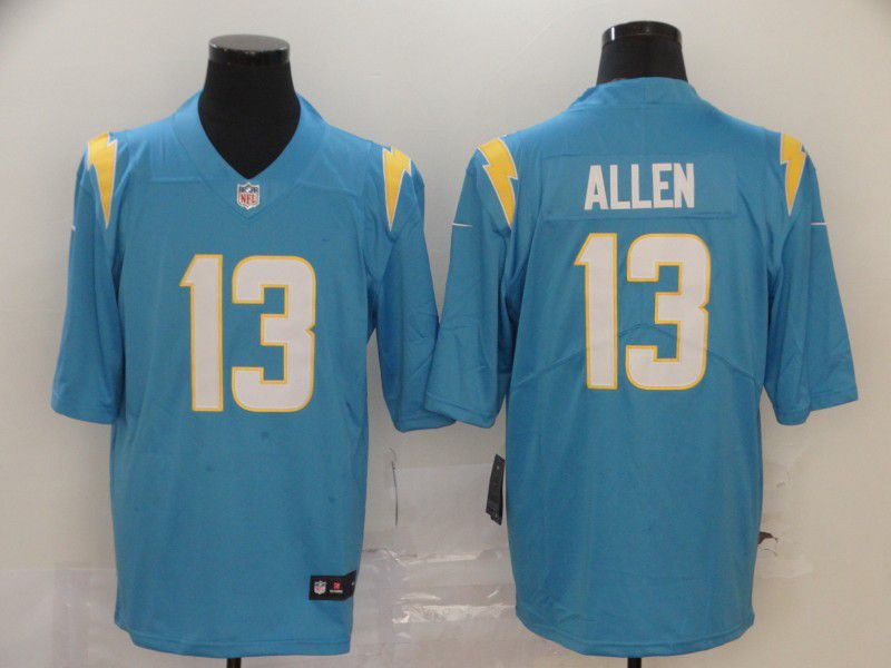 Men Los Angeles Chargers 13 Allen Light Blue Nike Vapor Untouchable Stitched Limited NFL Jerseys