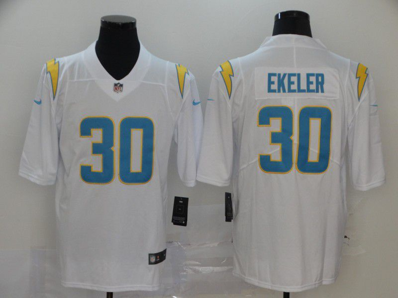 Men Los Angeles Chargers 30 Ekeler White Nike Vapor Untouchable Stitched Limited NFL Jerseys