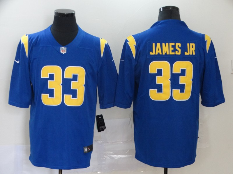 Men Los Angeles Chargers 33 James jr blue Nike Vapor Untouchable Stitched Limited NFL Jerseys