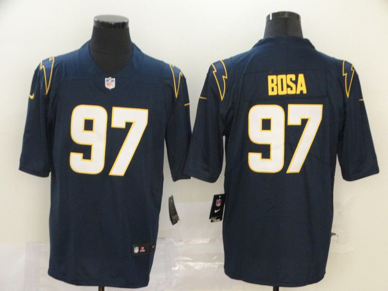 Men Los Angeles Chargers 97 Bosa Dark Blue Nike Vapor Untouchable Stitched Limited NFL Jerseys