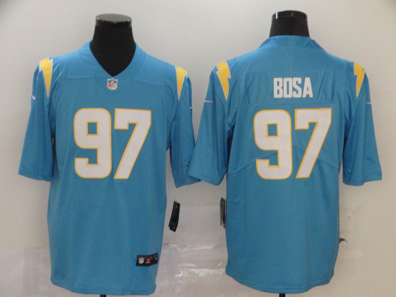 Men Los Angeles Chargers 97 Bosa Light Blue Nike Vapor Untouchable Stitched Limited NFL Jerseys