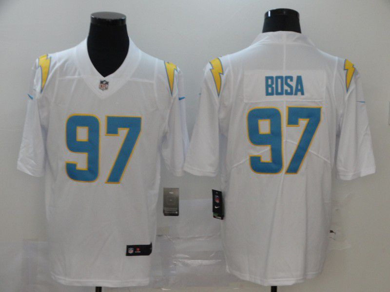Men Los Angeles Chargers 97 Bosa White Nike Vapor Untouchable Stitched Limited NFL Jerseys