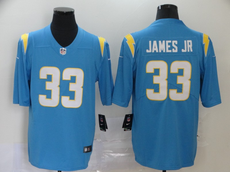 Men Los Angeles Chargers Nike NFL 33 James Jr Limited Road Vapor Untouchable light blue Jersey
