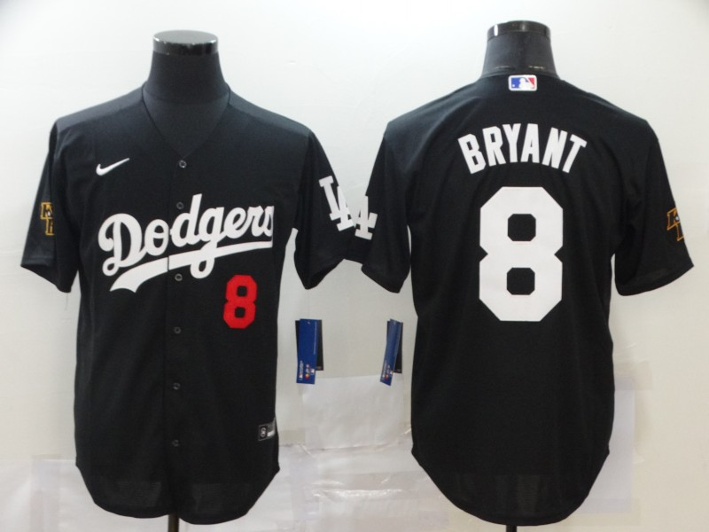Men Los Angeles Dodgers 8 Bryant Black Nike Game MLB Jerseys