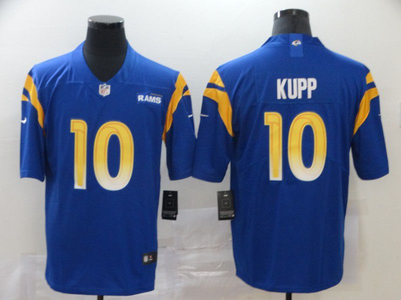 Men Los Angeles Rams 10 Kupp Blue Nike Vapor Untouchable Stitched Limited NFL Jerseys