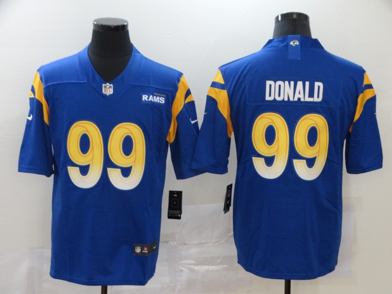 Men Los Angeles Rams 99 Donald Blue Nike Vapor Untouchable Stitched Limited NFL Jerseys