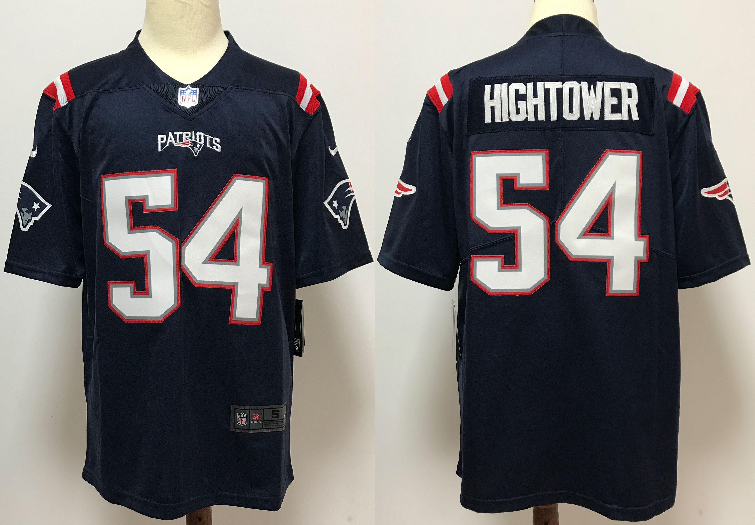 Men New England Patriots 54 Hightower Blue Nike Vapor Untouchable Stitched Limited NFL Jerseys