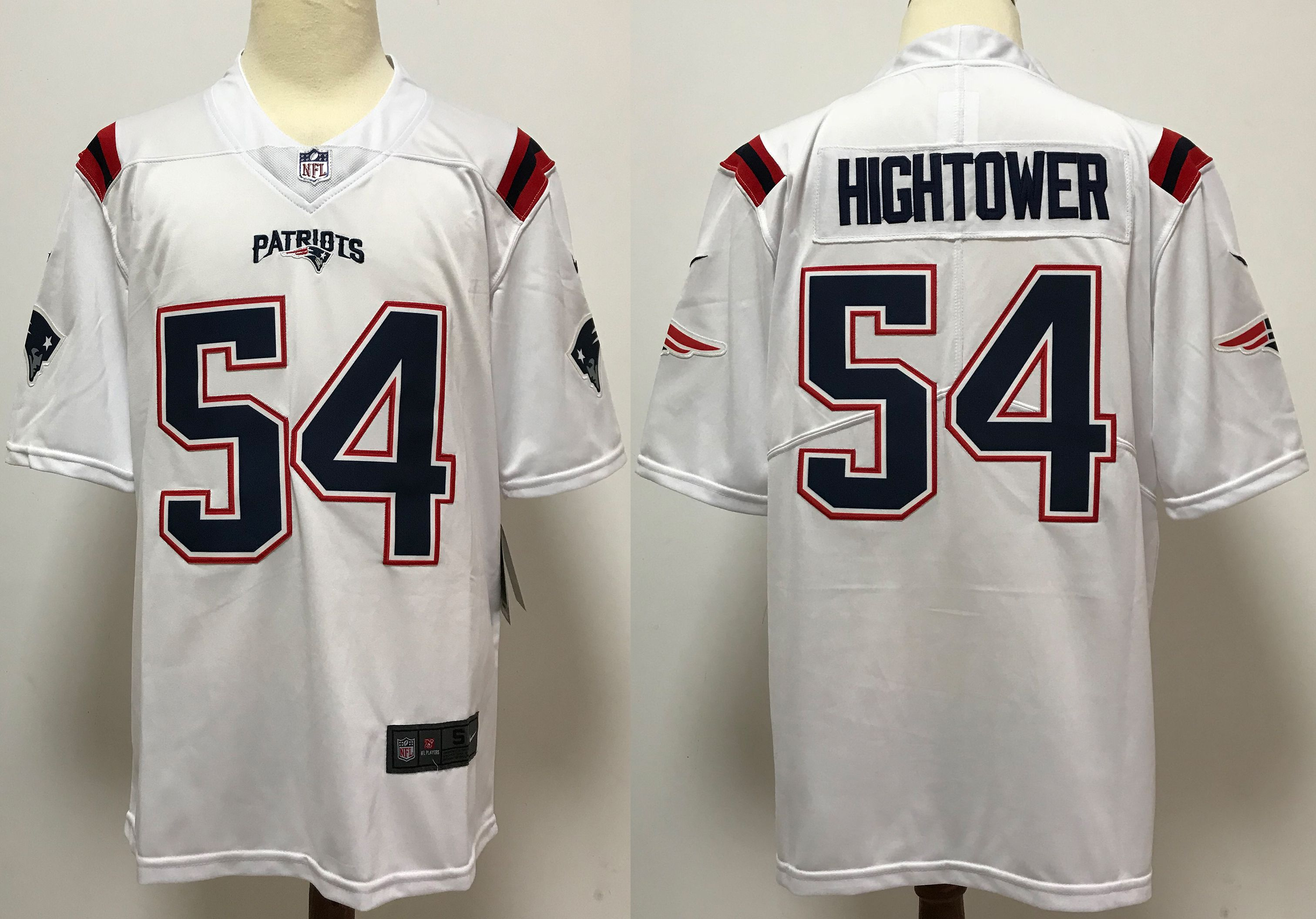 Men New England Patriots 54 Hightower White Nike Vapor Untouchable Stitched Limited NFL Jerseys