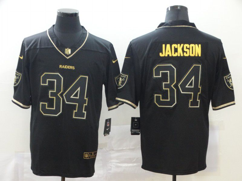 Men Oakland Raiders 34 Jackson Black Nike Vapor Untouchable Stitched Limited NFL Jerseys
