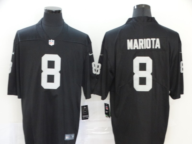 Men Oakland Raiders 8 Mariota Black Nike Vapor Untouchable Stitched Limited NFL Jerseys