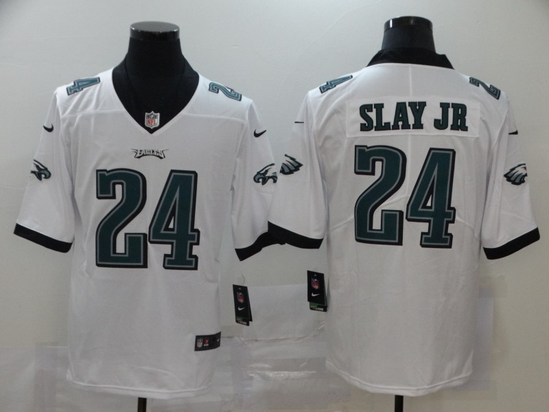 Men Philadelphia Eagles 24 Slay Jr White Nike Vapor Untouchable Stitched Limited NFL Jerseys