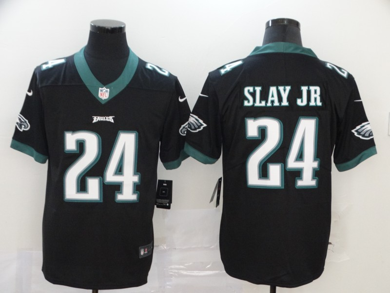 Men Philadelphia Eagles 24 Slay Jr black Vapor Untouchable NFL Jersey Limited Player Football