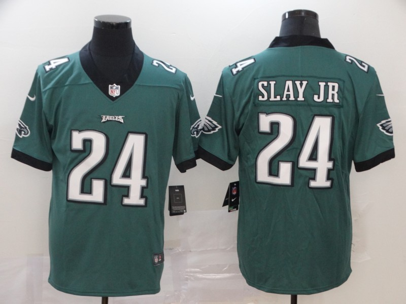 Men Philadelphia Eagles 24 Slay Jr green Vapor Untouchable NFL Jersey Limited Player Football
