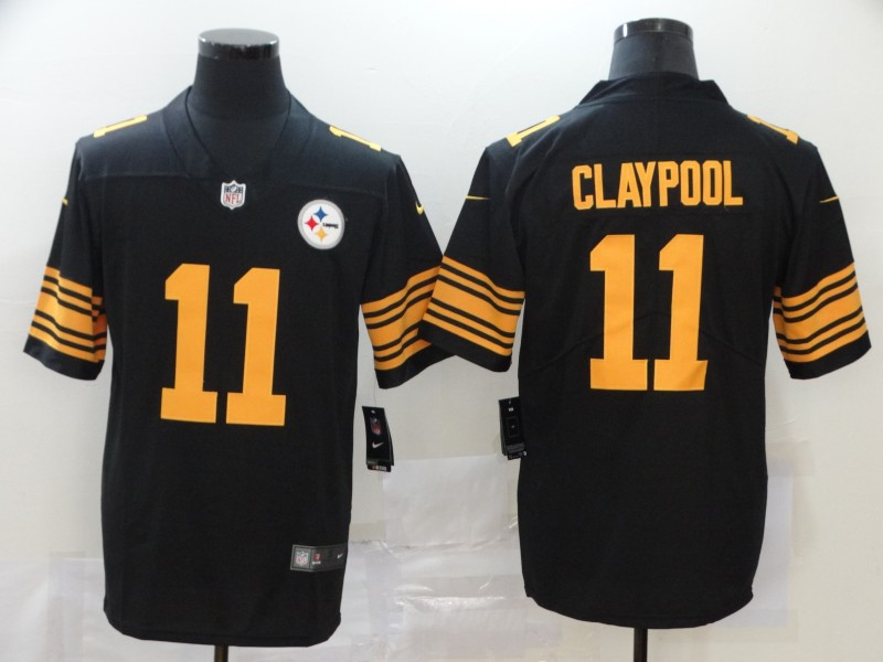 Men Pittsburgh Steelers 11 Claypool Black Nike Vapor Untouchable Stitched Limited NFL Jerseys