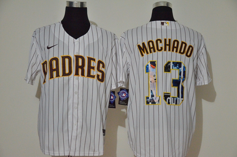 Men San Diego Padres 13 Machado white Nike Gme MLB Jerseys