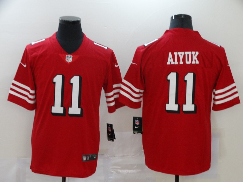 Men San Francisco 49ers 11 Aiyuk Red Nike Vapor Untouchable Stitched Limited NFL Jerseys