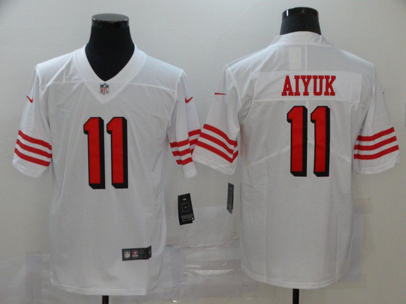 Men San Francisco 49ers 11 Aiyuk White Nike Vapor Untouchable Stitched Limited NFL Jerseys