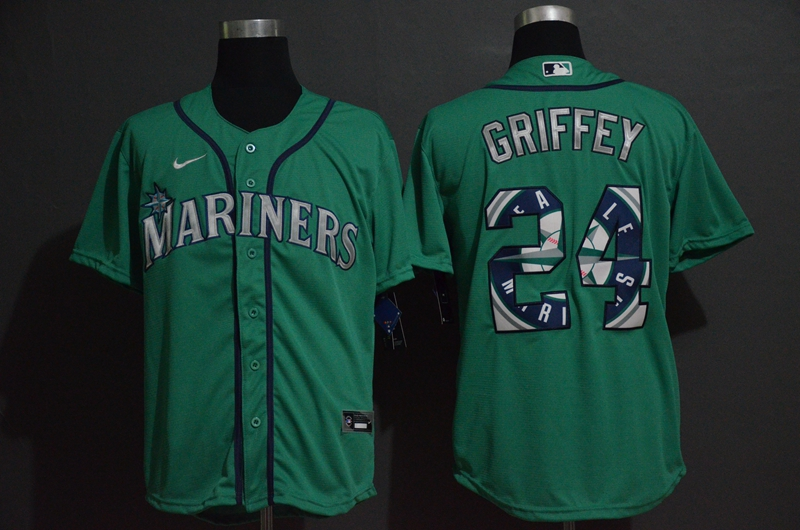 Men Seattle Mariners 24 Griffey green Nike Game MLB Jerseys