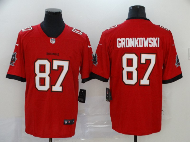 Men Tampa Bay Buccaneers 87 Gronkowsk red Vapor Untouchable Player Nike Limited NFL Jersey