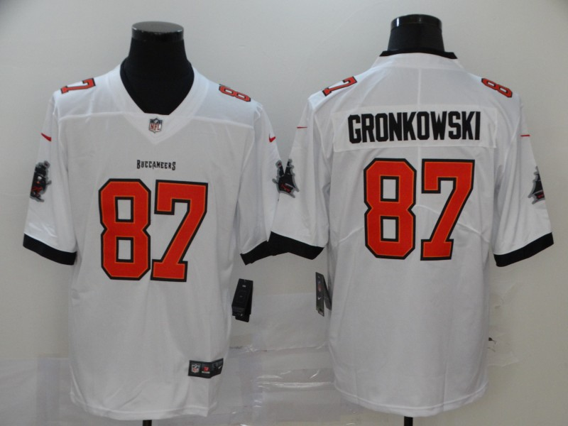 Men Tampa Bay Buccaneers 87 Gronkowsk white Vapor Untouchable Player Nike Limited NFL Jersey
