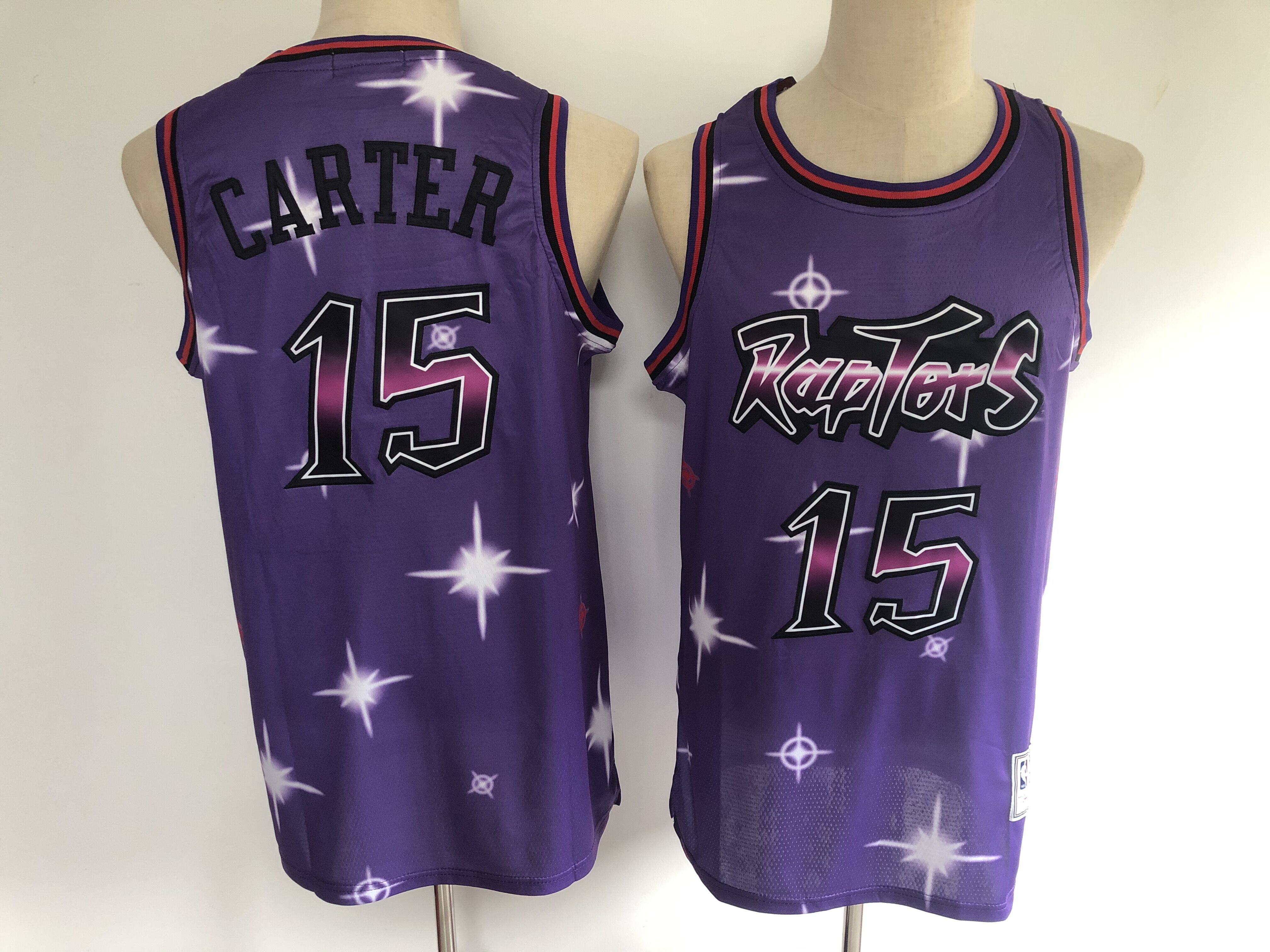 Men Toronto Raptors 15 Carter purple Adidas NBA Jerseys