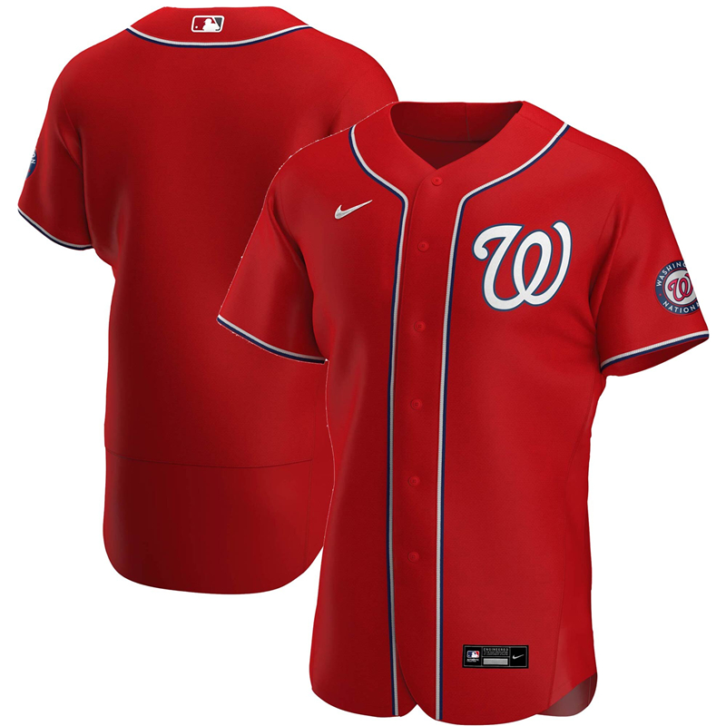 Men Washington Nationals Nike Red Alternate 2020 Authentic Team Jersey