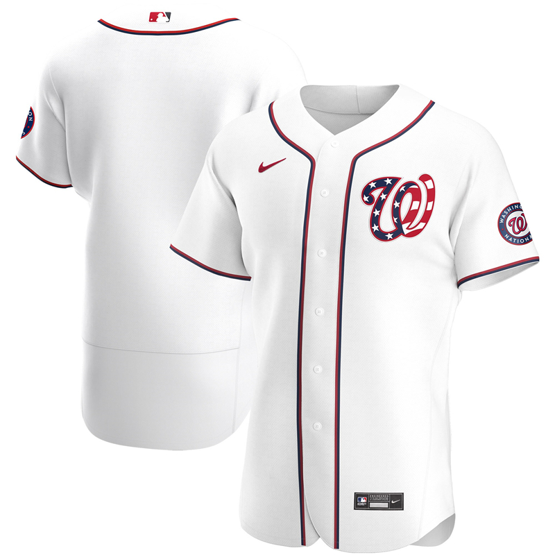 Men Washington Nationals Nike White Alternate 2020 Authentic Jersey