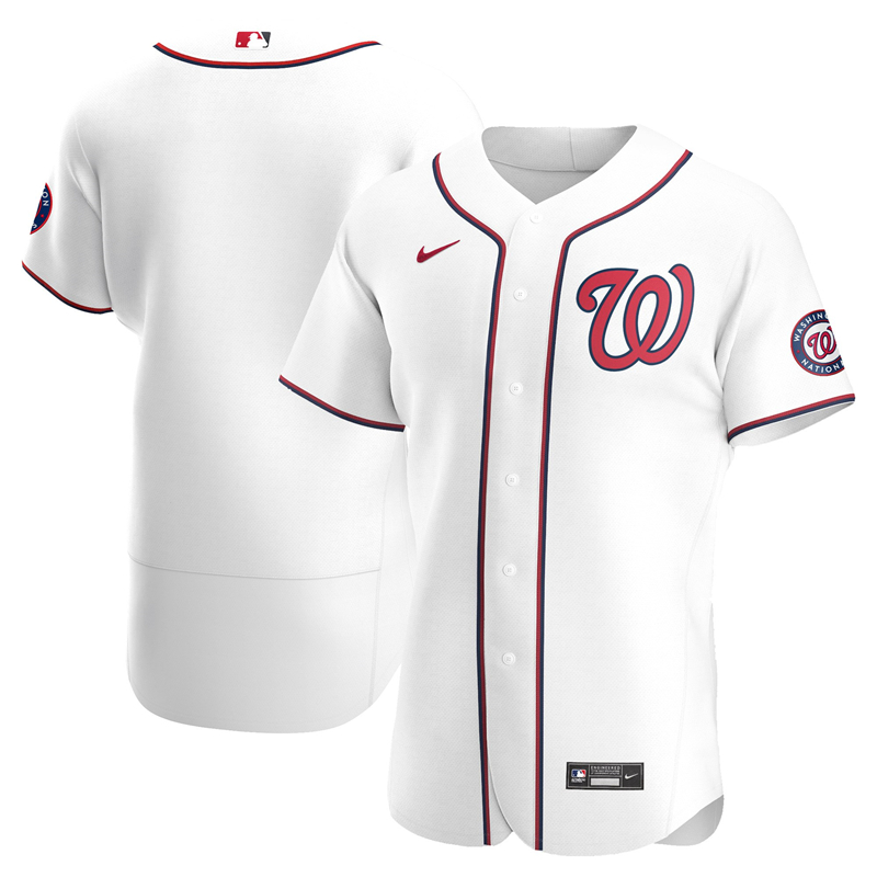 Men Washington Nationals Nike White Home 2020 Authentic Team Jersey