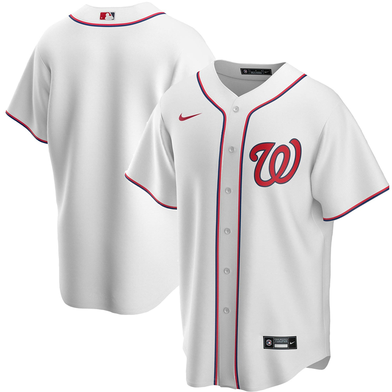 Men Washington Nationals Nike White Home 2020 Replica Team Jersey