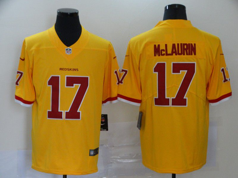 Men Washington Redskins 17 Mclaurin Yellow Nike Vapor Untouchable Stitched Limited NFL Jerseys