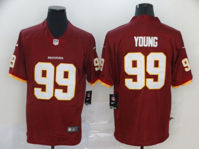 Men Washington Redskins 99 Young Red Nike Vapor Untouchable Stitched Limited NFL Jerseys